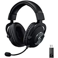 Logitech G PRO X Wireless LIGHTSPEED Gaming Headset with Blue VO!CE Mic Filter Tech, 50 mm PRO-G Drivers, and DTS…