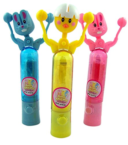 Light Up Easter Lollipop Clicker Basket Stuffer, 1.26 oz, Pack of 3