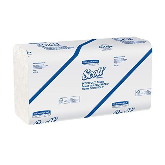 Scott Multi Fold Hand Towel 28610 - M Fold Paper Towel - 16 Packs x 250 Sheets - White Folded Paper Towel Sheets 24 cm X 23.1 cm (4000 Total) 1