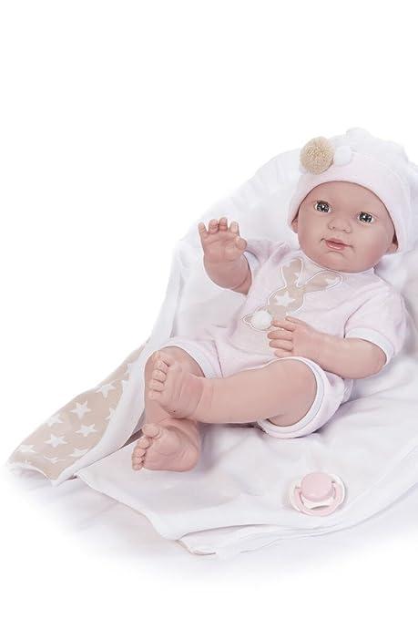 Amazon.es: Muñeco Baby Recién Nacido Con Mantita 37cms: Juguetes y ...