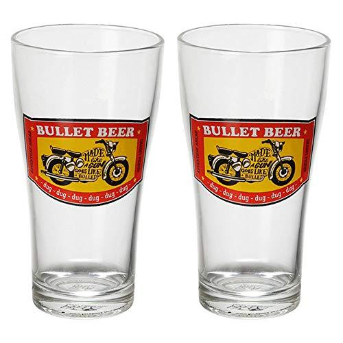 Ek Do Dhai Bullet Beer  amp; Cocktail Glass Set of 2