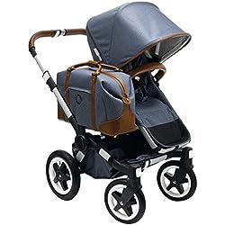 Bugaboo Donkey Weekender Stroller, Blue/Brown