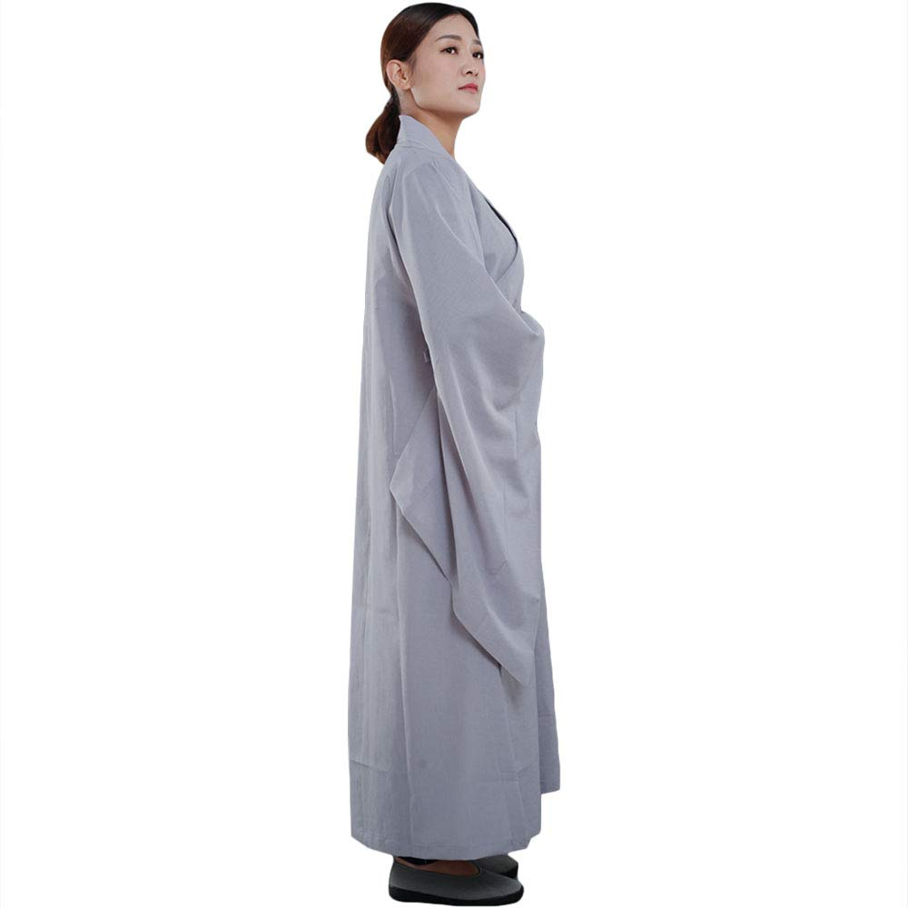 ZooBoo Shaolin Unisex Monk Kung fu Robe Costume Long Gown Meditation Suit