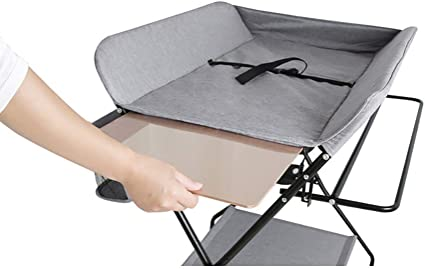 Folding Diaper Station for Baby WONDERHOO Folding Diaper Change Table Diaper Changing Pad Cover