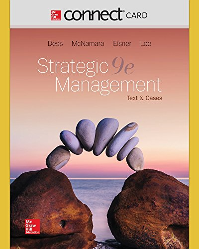 Connect Access Code Card for Strategic Management: Text and Cases