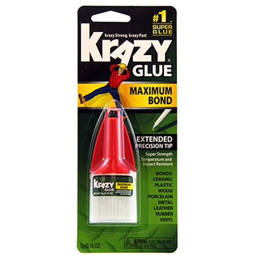 Elmers Advanced Formula Krazy Glue (Krazy Glue KG48348MR Maximum Bond Krazy Glue, 0.18 oz. Extra Strong, Durable, Precision Tip)