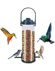 Bird Feeder,Hanging Wild Birds Feeder with 2 Feeding Ports,Waterproof Outdoor Hanging Bird Feeder for Garden Yard Outside Decoration