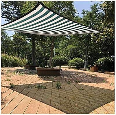 MAHFEI Malla Sombra De Red Rayas Verdes Y Blancas Protector Solar Luz De Bloque Bajar La Temperatura Antioxidante Jardín Plan De Proteccion, 23 Tallas Personalizable: Amazon.es: Hogar