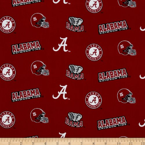 - Sykel Enterprises Collegiate Cotton Broadcloth University of Alabama Fabric by The Yard, Multi