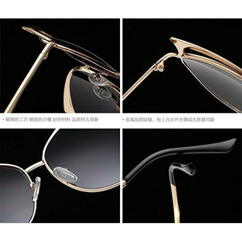 WANGMIN® Lunettes De Soleil Fashion Classic Brand Designer Lunettes De  Soleil Vintage Twin Beam Metal e79b210a31af