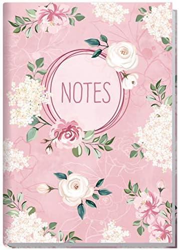 Notizbuch A5 kariert [Blütentraum] von Trendstuff by Häfft | 126 Seiten | Ideal als Tagebuch, Bullet Journal, Ideenbuch, Schreibheft | klimaneutral & nachhaltig