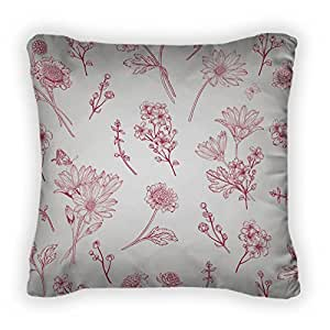 Gear New Pattern With Red Flowers Throw Pillow,