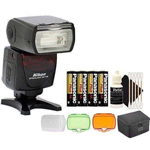 Nikon SB-700 Speedlight AF Shoe Mount Flash for Nikon DSLR D750 D700 D80 and All Nikon DSLR Cameras + Accessories