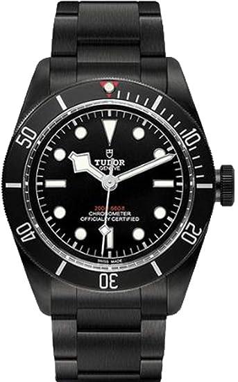 Tudor Patrimonio Negro Bahía oscuro 79230dk Hombres del reloj: Amazon.es: Relojes