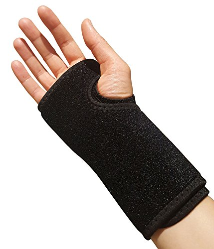 (Carpal Tunnel Wrist Brace – Ideal Support for Day or Night Time Wear. Comfortable Arm Splint for Sprained Wrists and Hands. Compression Reduces RSI, Forearm Tendonitis or Arthritis Thumb Joint (Right))