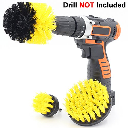 Price comparison product image Cooptop Medium Bristles Drill Brush Set - Bathroom & Kitchen Scrub Brush Cleaning Kit - Great for Cleaning Bathtubs,  Shower,  Sinks,  Tiles and Much More