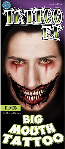 Tinsley Transfers Demon Big Mouth Temporary FX Tattoo by Tinsley Transfers