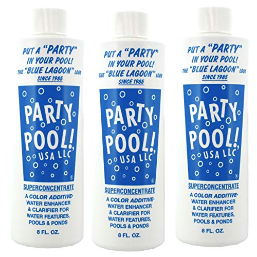 3 PACK - Party Pool Color Additive Blue Lagoon 47016-00008 -