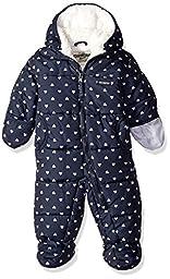 Osh Kosh Baby Girls\' Heart Print Pram Suit, Navy, 3/6 Months
