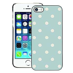 Supergiant (Polka Dot Vintage Rustic Blue Baby Pattern) Impreso colorido protector duro espalda Funda piel de Shell para iPhone 5 / 5S