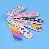 Nail Sand Strip Clearance , 12PCS Tools Art Nail File Grind Sand Block Double Sided Printing Polished Strip  by Little Story