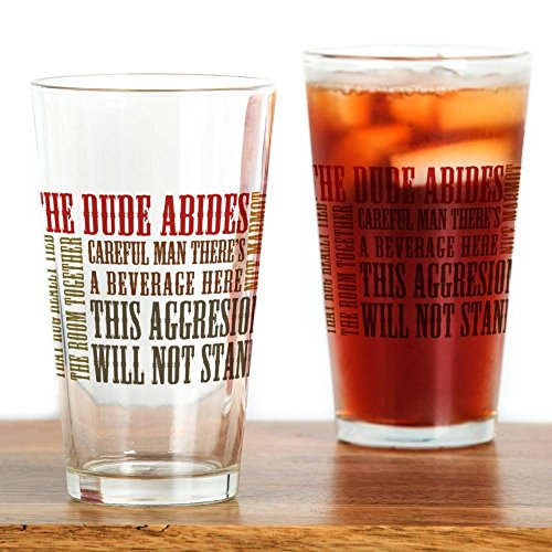 CafePress Lebowski Quotes Drinking Glass