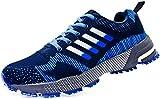 JiYe Athletic Shoes Men's Women's Outdoor Tennis Jogging Walking Fashion Sneaker,Running Shoes,Blue,9.5US-Women/8.5US-Men