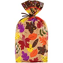 Wilton W0427 Party Bags, 4-Inch by 9.5-Inch, Autumn, 20-Pack