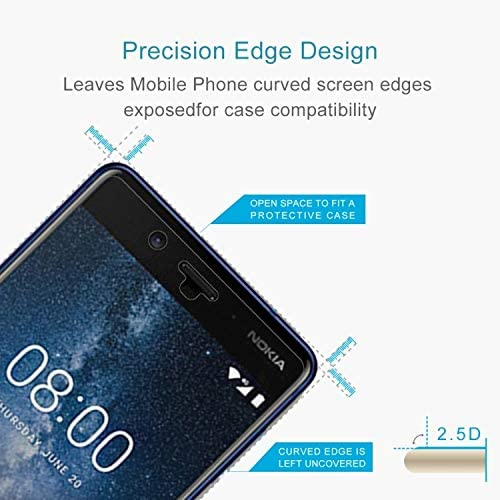 Ruanmaoshi Phone Screen Protectors 100 PCS Nokia 8 0.26mm 9H Surface Hardness 2.5D Curved Edge Tempered Glass Screen Protector