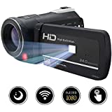 Gonpon Digital Camera Camcorder Full HD 1080p 24MP Video Camcorders Vlogging Camera With Retractable Flash Light and UV Lens