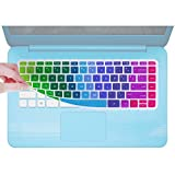 Keyboard Cover for HP Stream Laptop 14-ax010nr 14-ax020nr, HP ENVY 14-j0, 14-ab/ac/ad/an, 14-ab010/166us 14-ac159nr 14-al062nr 14-an010nr/013nr/080nr 14-ax/ax020nr /020wm(Rainbow)