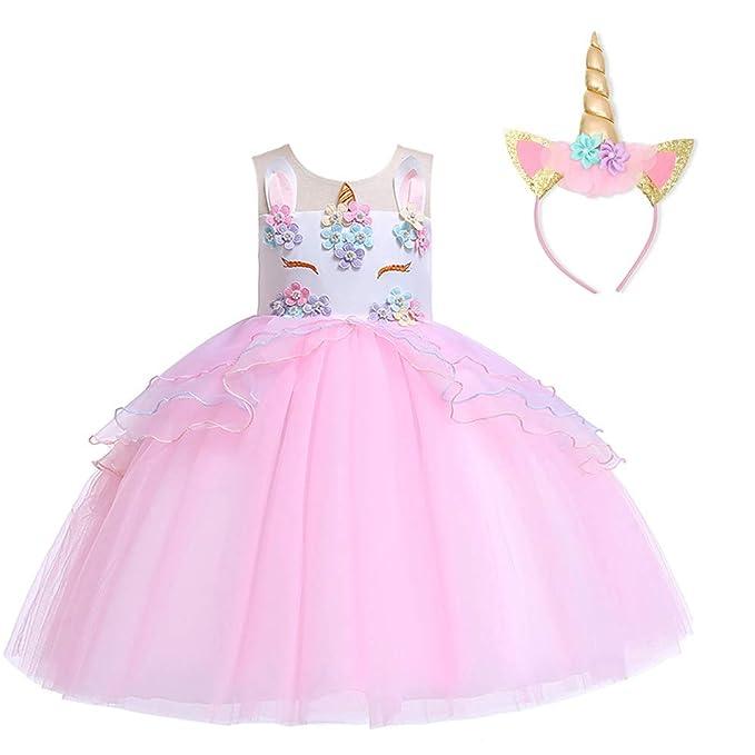 Amazon.com: Zilinshi - Disfraz de unicornio de flor para ...