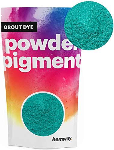 - Hemway Grout Dye Pigment Concrete Colour Powder Render Mortar Pointing Powdered Brick Toner (3.6oz / 100g, Metallic Jade Green)