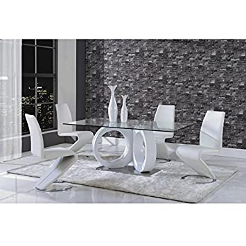Delightful Global Furniture Dining Table, White