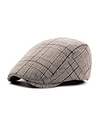 Fasbys Unisex Classic Cotton Flat Cap Cabbie Hat Newsboy Hunting Beret Hats