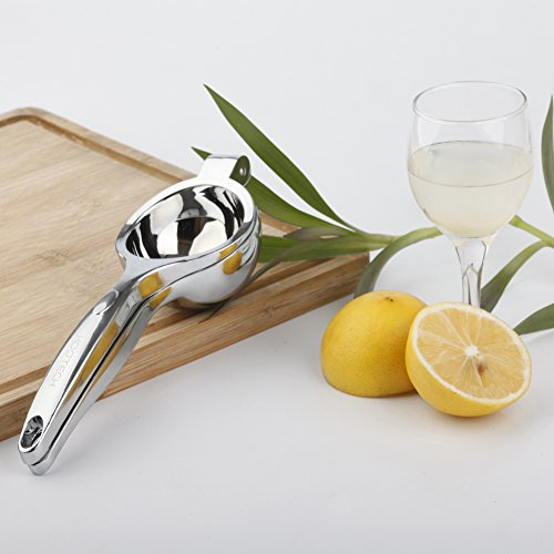 kootech quality heavy metal Lime Lemon Squeezer Stainless Steel Press Manuel Juicer silver