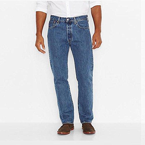 : Levi Men's 501 Original Fit Jeans 31x32 Medium Stonewash (0193)
