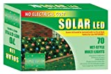 Good Tidings Holiday Solar Powered LED Net-Style Light Set, Multi-Colored