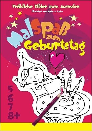 Frohliche Bilder Zum Ausmalen Malspass Zum Geburtstag Malbuch Spass