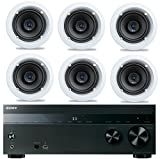 Sony 5.2-Channel 725-Watt 4K A/V Home Theater Receiver + Niles Easy-to-Install High-Performance Surround Sound 6'' 2-Way in-ceiling Speaker System (Set Of 6)