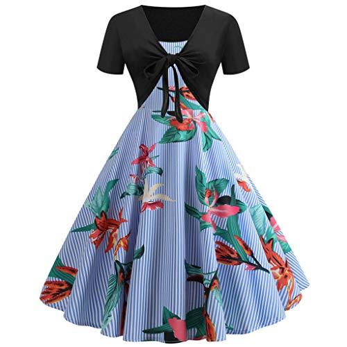 FAPIZI Women Summer Print Sunflower Cami Dress Bow Knot Bandage Top Plus Size Mini Dress Suits Swing T-Shirt Dress