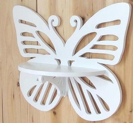Amazon.com: pared decoración madera forma Estantería de ...