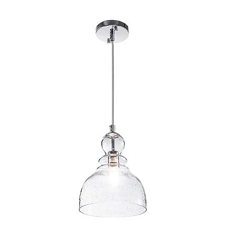 One Light Glass Shade Pendant Light, Industrial Adjustable Edison Farmhouse Kitchen  Lamp Ceiling Light Fixture     Amazon.com