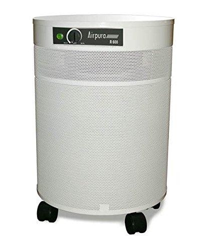 Air Purifier w True HEPA Filter in Cream