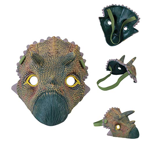 Volity Livoty Cosplay Props Dinosaur Face Overhead Latex Costume Prop Scary Mask Toy for Festival Costume
