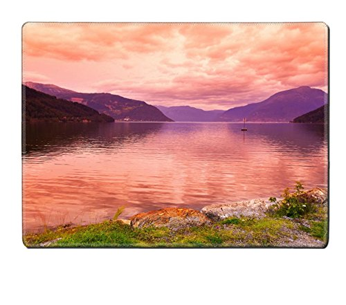 Liili Natural Rubber Placemat Image Id 39021222 Sunset In Fjord Hardanger Norway Nature And Travel Background