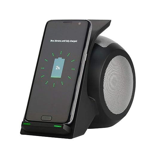 QINAIDI Cargador rápido inalámbrico con Bluetooth Speaker ...