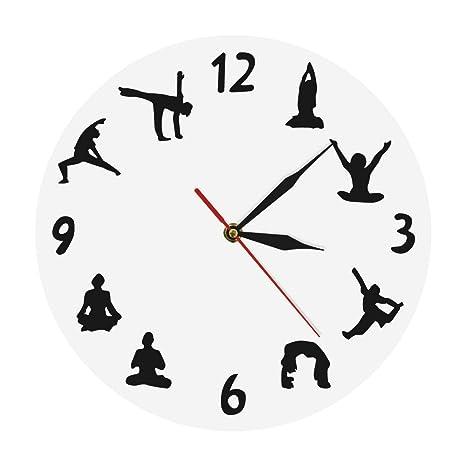 nuanyang Relojes De Pared,Reloj De Pared Estudio De Yoga Zen ...