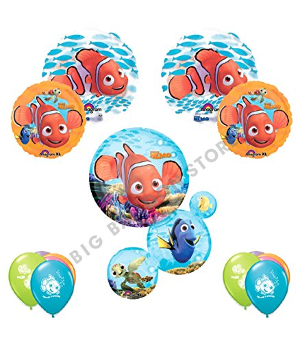 Finding Nemo Ultimate 15pc Birthday Party Balloon Decorating Kit