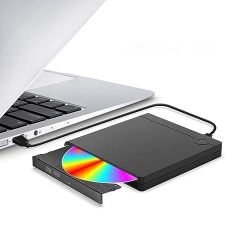 GAELLE Unidad De CD-ROM con Estuche De CD/DVDPVC Externo USB, Caja